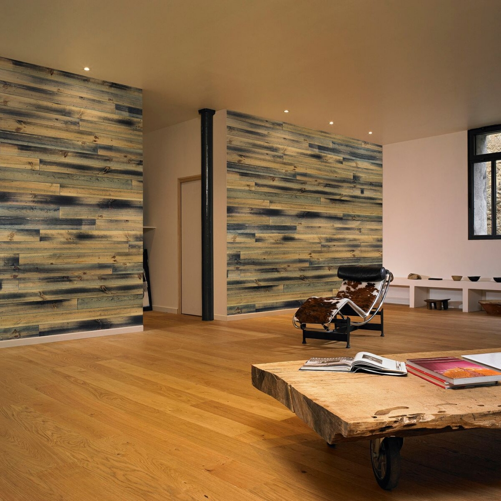 Prefinished Pine Planking at Long Island Paneling, Ceilings & Floors